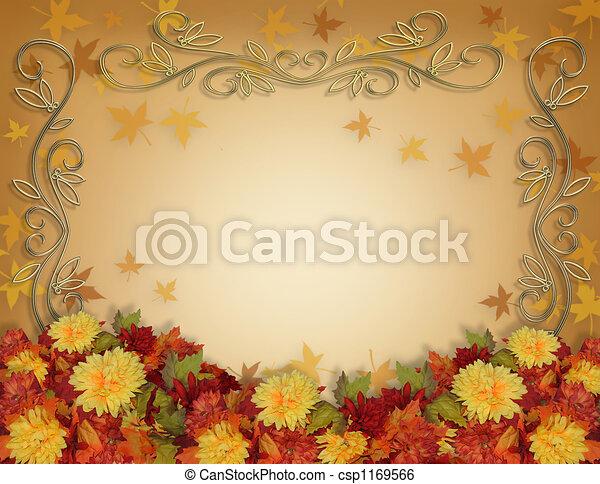 Thanksgiving Fall Border - csp1169566