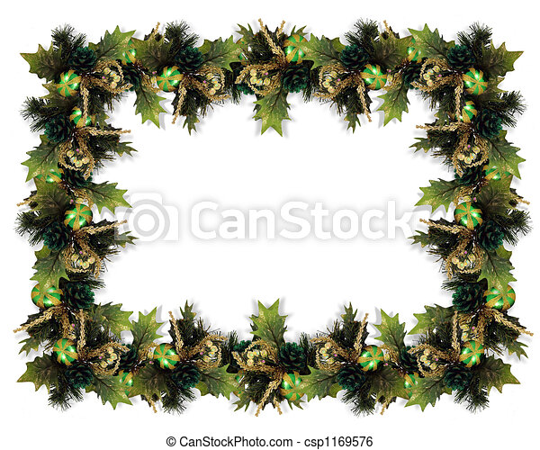 Christmas Garland Border - csp1169576