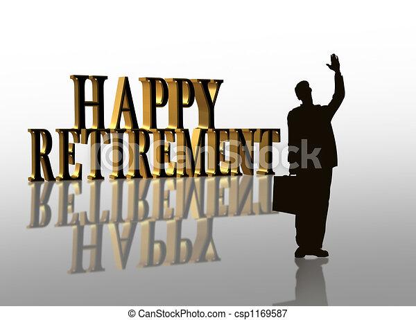 Retirement Party illustration  - csp1169587