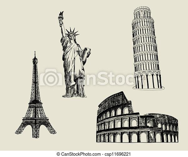 Sketch Landmark - csp11696221