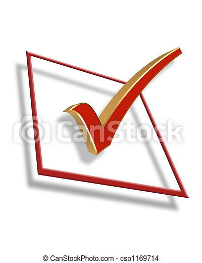 caja, gráfico, cheque,  3D - csp1169714
