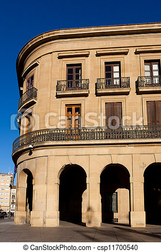 Government of Navarra palace, Pamplona, Navarra, Spain - csp11700540