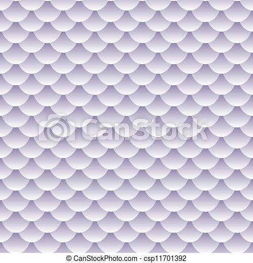 Seamless textured fish scale pattern - csp11701392