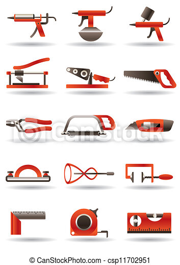 Vecteur clipart de b timent construction outils for Outil de construction