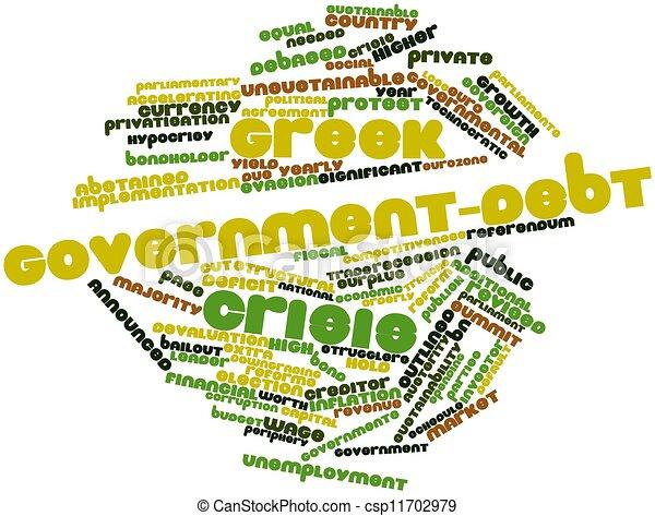 Greek government-debt crisis - csp11702979
