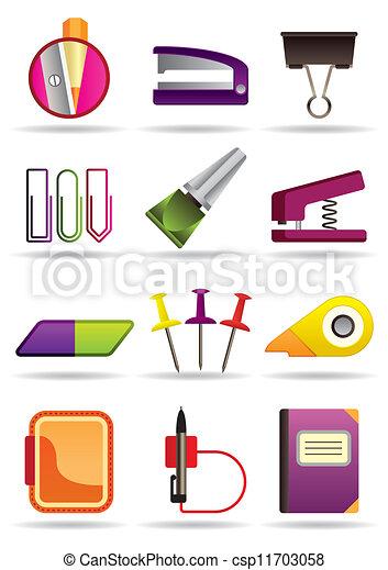 Clipart vectorial de escuela herramientas oficina for Oficina electronica de empleo