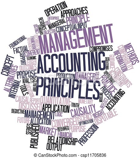 Word cloud for Management accounting principles - csp11705836
