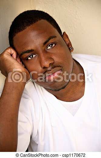 African American Male Youth Portrait - csp1170672