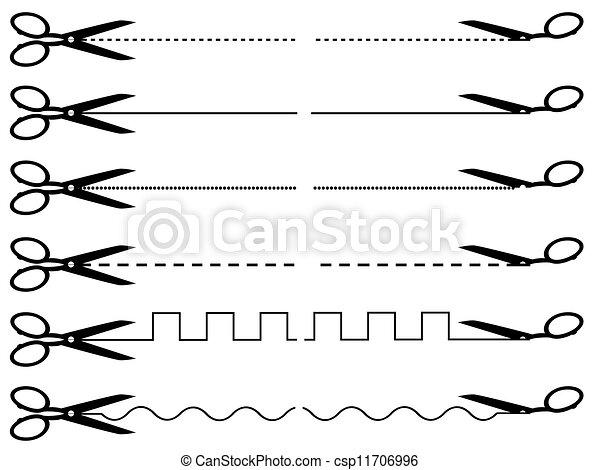 Collection of vector scissors - csp11706996
