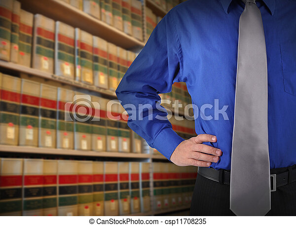 Libray Law Business Man with Tie - csp11708235