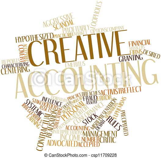 Word cloud for Creative accounting - csp11709228