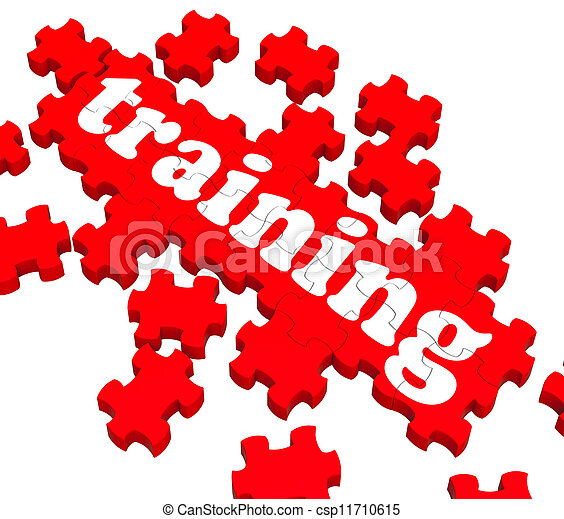 Training Puzzle Showing Business Coaching - csp11710615