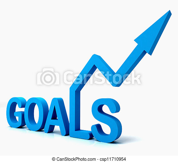 Blue Goals Word Shows Objectives Hope And Future - csp11710954