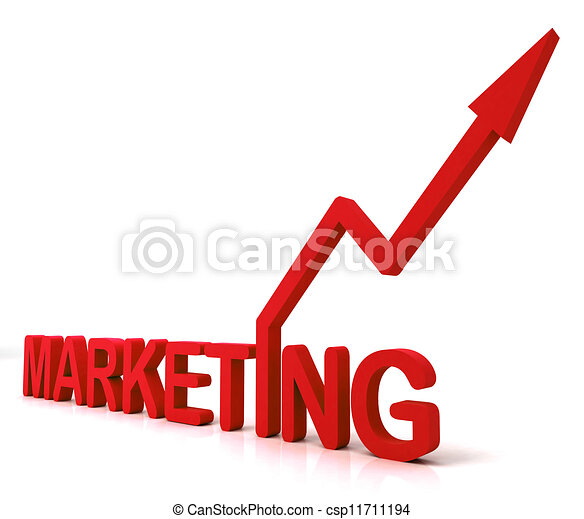 Stock Illustration of Red Marketing Word Means Promotion ...