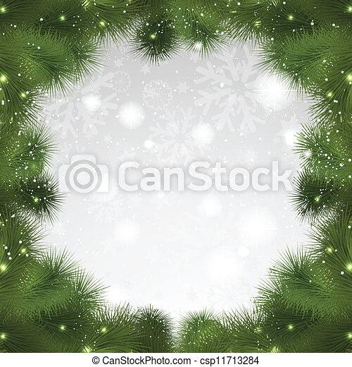 Christmas tree background - csp11713284
