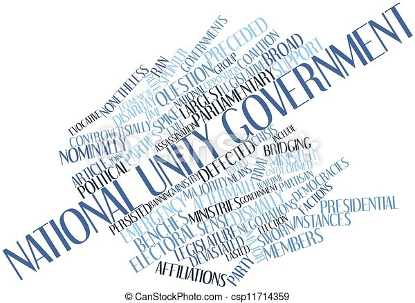 Word cloud for National unity government - csp11714359