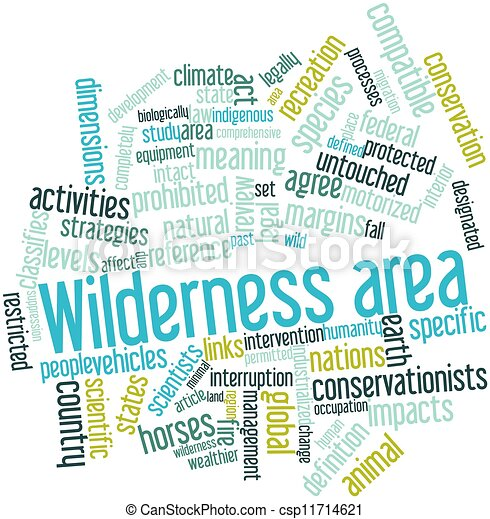 Clip Art of Wilderness area - Abstract word cloud for Wilderness ...