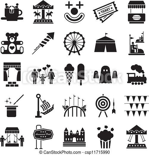 Amusement Park icons - csp11715990