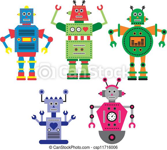 Robots Clip Art Vector Graphics. 33,253 Robots EPS clipart vector ...