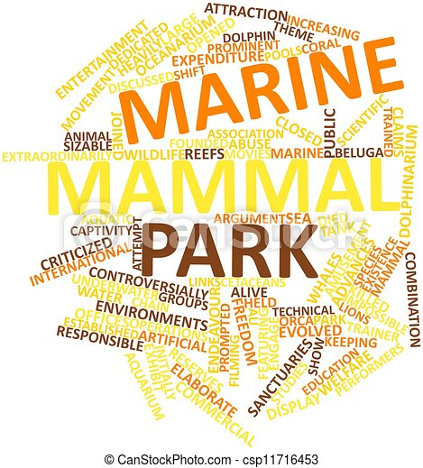 Word cloud for Marine mammal park - csp11716453