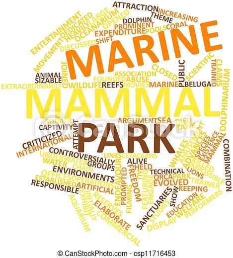 Word cloud for Marine mammal park - csp11716453