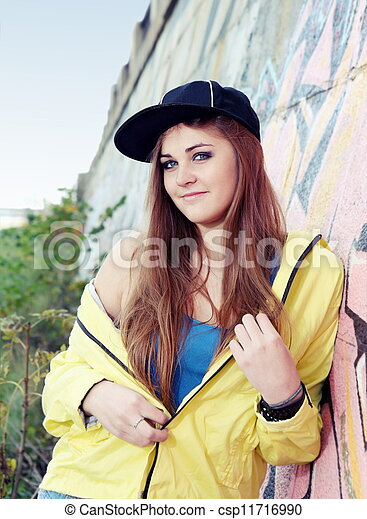 Teenager Girl Young Adult Smiling Woman - csp11716990