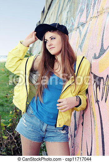 Urban Teenager Girl Young Adult Woman - csp11717044