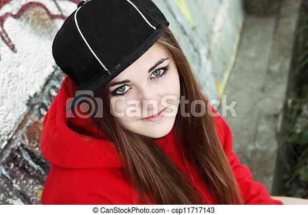 Urban Teenager Young Adult Woman - csp11717143