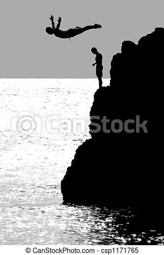 The Cliff Diver - csp1171765