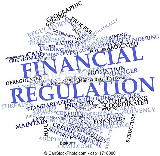 types of financial regulations in the Federal regulations for the financial industry include dodd-frank, sarbanes-oxley, and glass steagall how they prevent future crises.