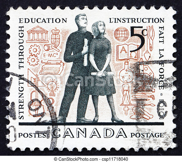 Postage stamp Canada 1962 Young Adults and Education Symbols - csp11718040