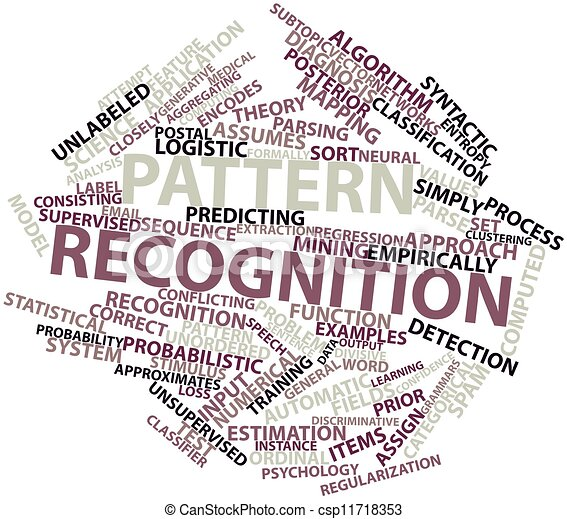 Stock Illustrations of Pattern recognition - Abstract word ...