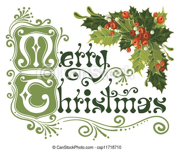 Merry Christmas card - csp11718710