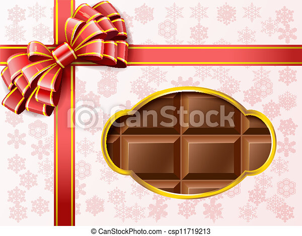 Vector Clip Art of Chocolate gift box. - Chocolates in a box with ...