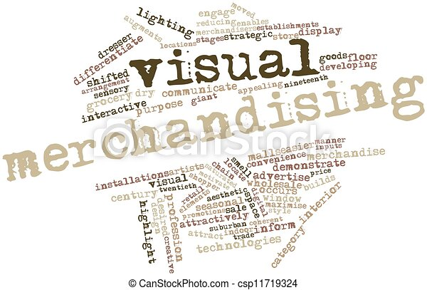 Clip Art Of Visual Merchandising Abstract Word Cloud For