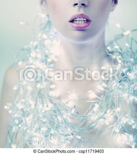 Fashion woman with jewelery - csp11719403