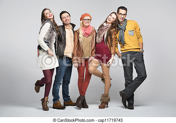 Fashion style picture of friends - csp11719743