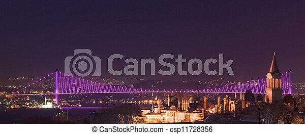 Bosporus bridges, Istanbul, Turkey - csp11728356