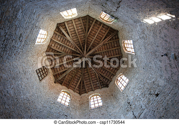 Euphrasian basilica, set in the belfry. Porec, Istria, Croatia. Included in the UNESCO World Heritage List - csp11730544