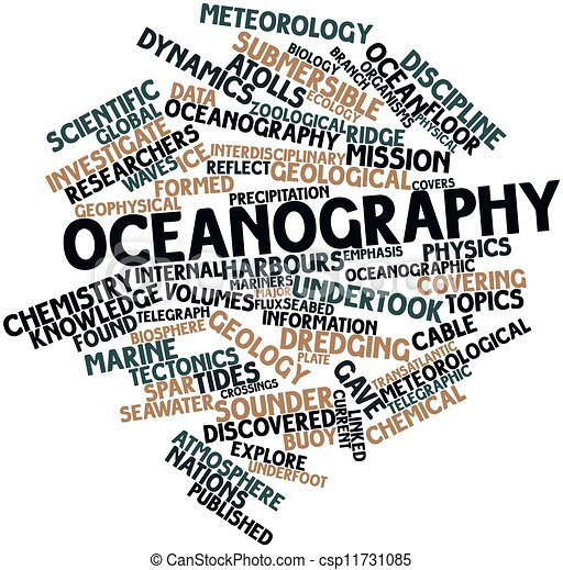 Stock Illustration of Oceanography - Abstract word cloud ...