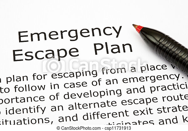 Emergency Escape Plan - csp11731913