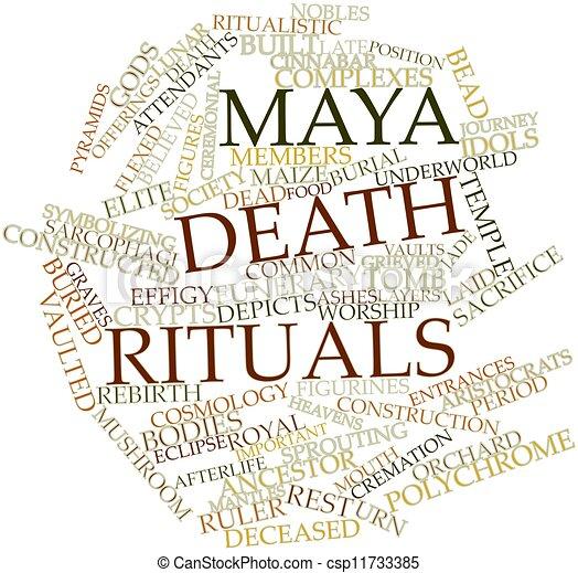 palabra, nube, maya, muerte, rituales - csp11733385