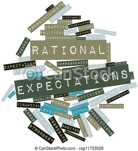 models of rational expectations in economics Classical, keynesian, rational expectations economic theories keynesian theory is a model of total spending and its impact on production and inflation in the economy, known as aggregate demand keynes who developed this principle believed the classical economy model was not very effective during the period of the great depression.