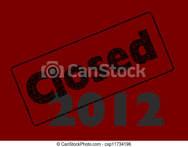 Financial accounting, accounts year closed 2012 - csp11734196