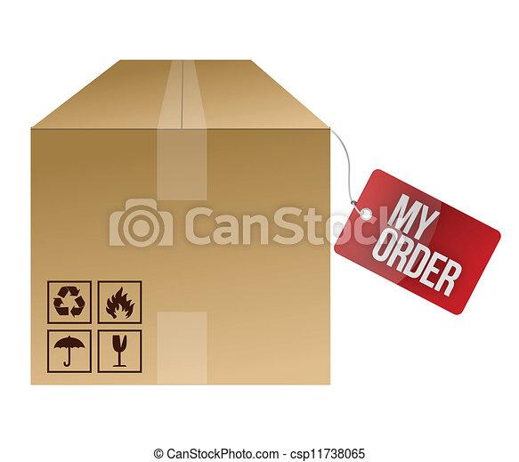 shipping box clip art 2