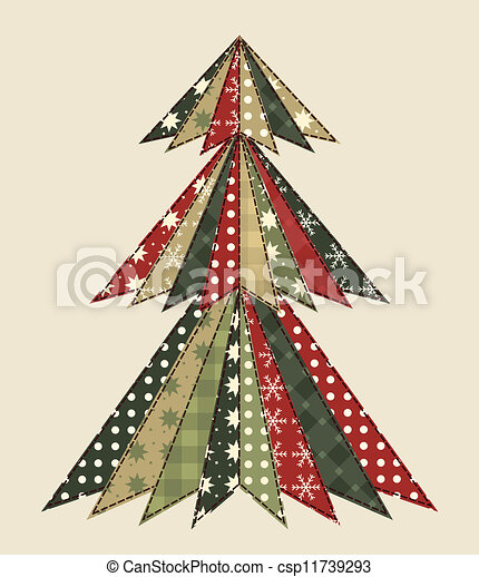 Christmas tree for scrapbooking 3 - csp11739293