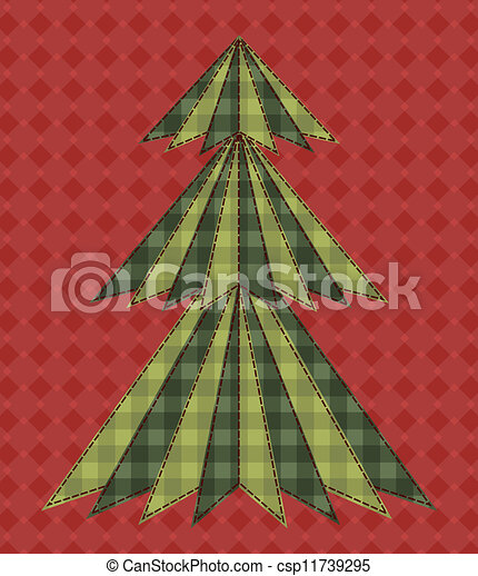 Christmas tree for scrapbooking 6 - csp11739295