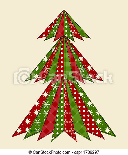 Christmas tree for scrapbooking 1 - csp11739297