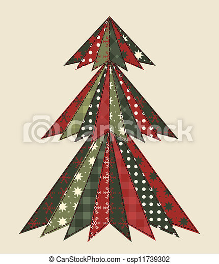 Christmas tree for scrapbooking 2 - csp11739302