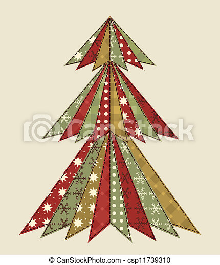 Christmas tree for scrapbooking 4 - csp11739310